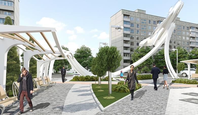 """Літак досі """"в польоті"""": у Мережі з'явилася нова візуалізація майбутнього площі Могилка"""
