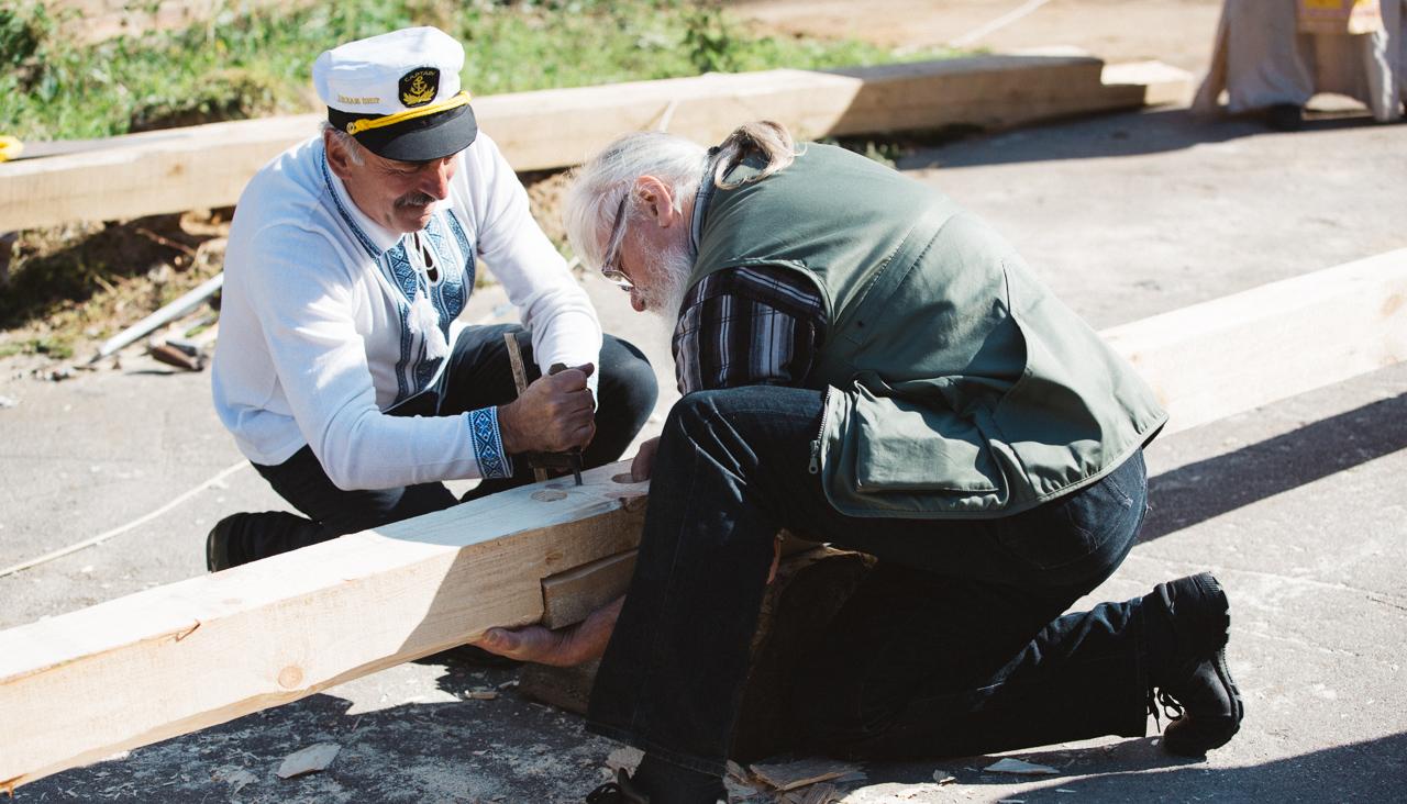 У Вінниці почали будувати козацький корабель за 12,6 мільйонів. ФОТОРЕПОРТАЖ