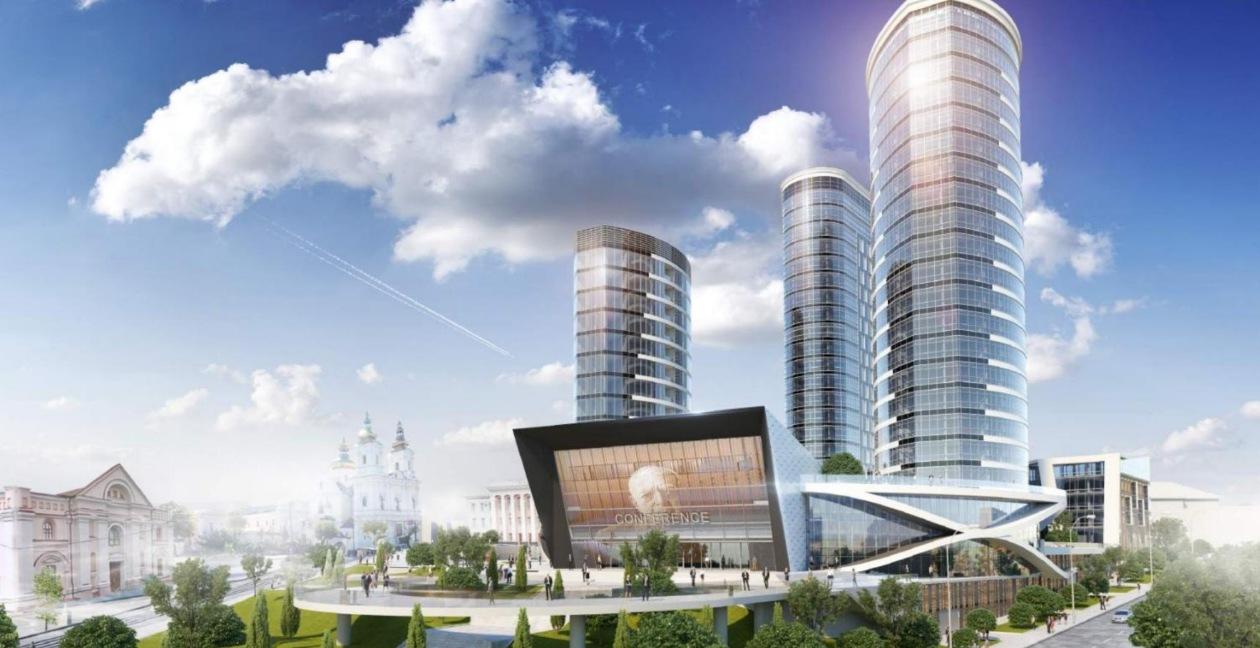 Хмарочоси на Соборній: архітектори показали сміливий проект на місці екс-кінотеатру «Росія»