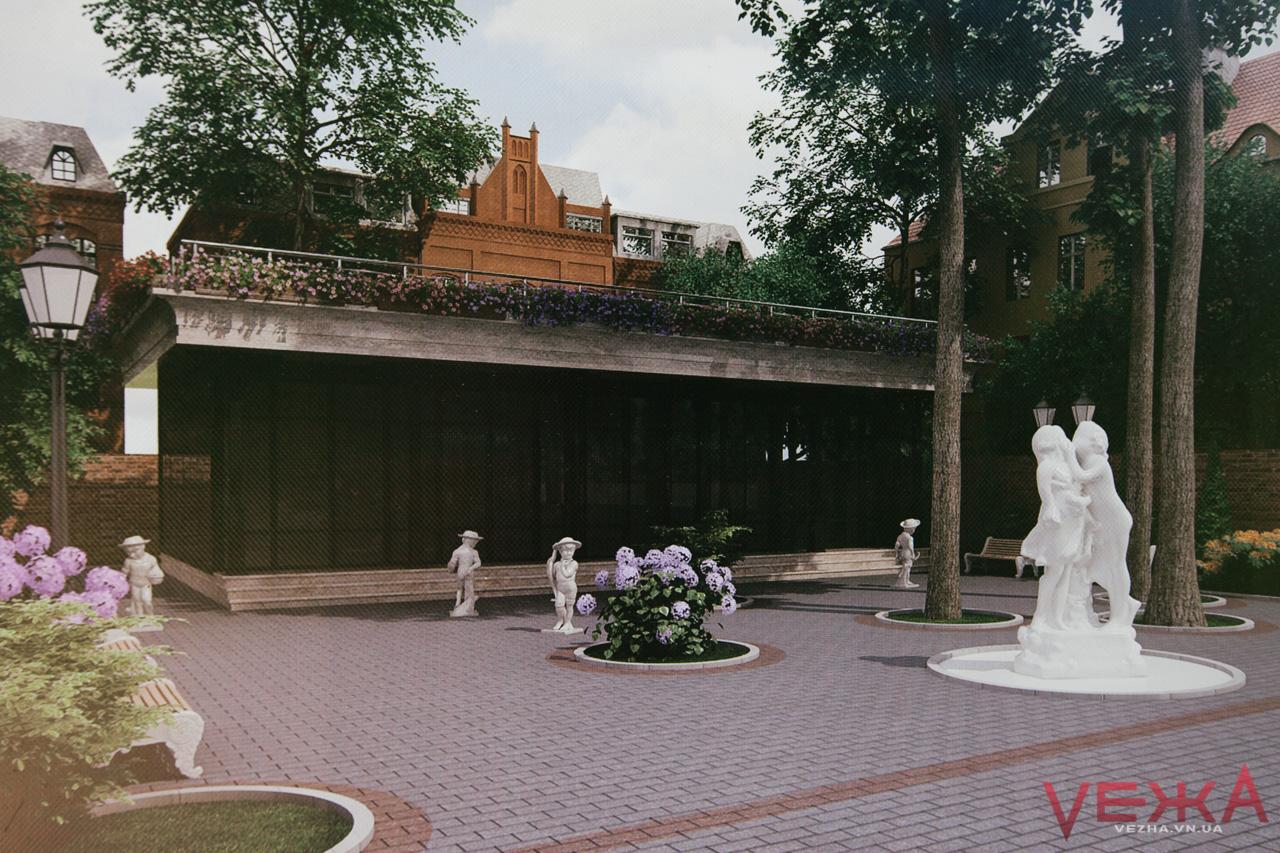 У центрі Вінниці будують дитяче кафе зі скульптурами. ФОТО