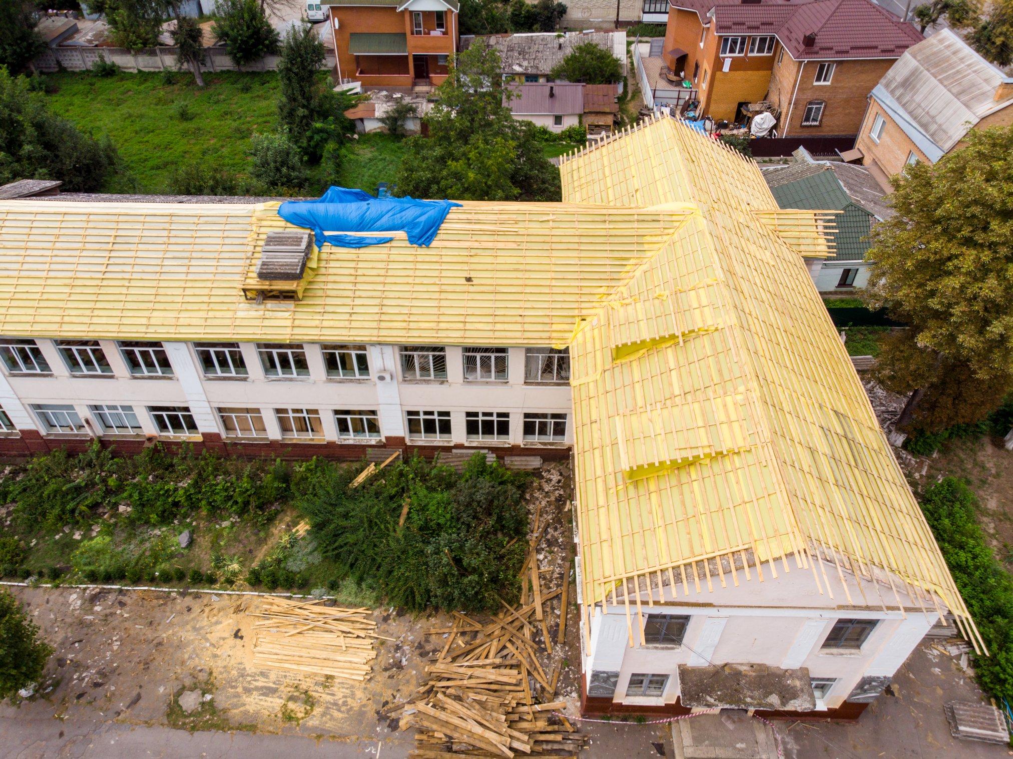 У Вінниці утеплюють ще один навчальний заклад. ФОТО