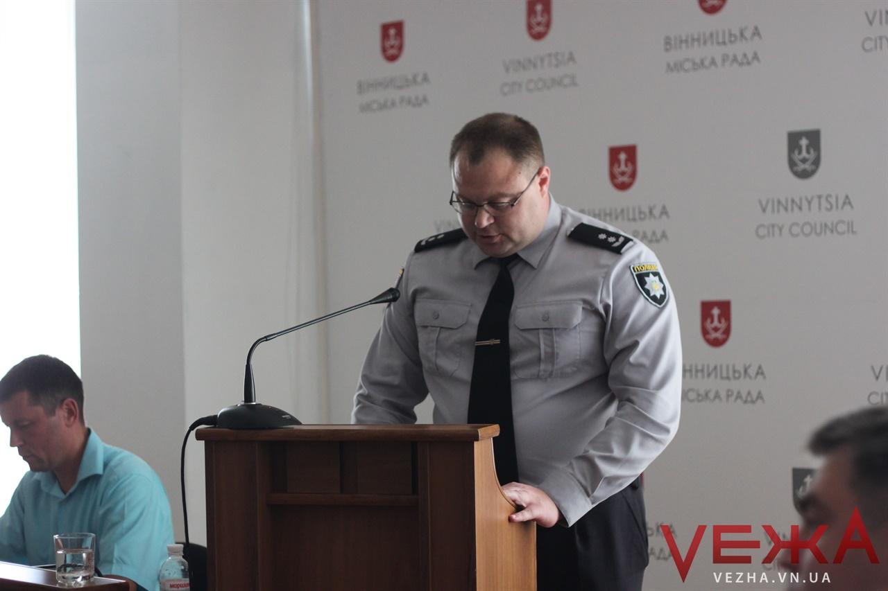 У Вінниці вирішили посилити патрулювання прилеглих сіл: звіт очільника поліції Вінниці