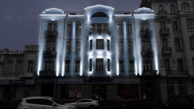 На Соборній підсвітять фасад історичного готелю. ГРАФІКА