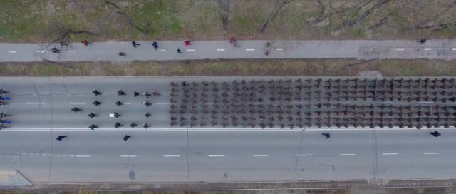"""""""Честь. Мужність. Закон"""": марш Нацгвардії у Вінниці з повітря. ВІДЕО"""