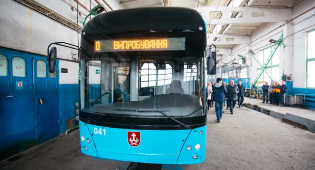 У стилі VinWay: у Вінниці показали, як виглядає перший тролейбус власного виробництва. ФОТО