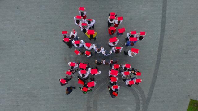 Вінничани створили «живий подільський орнамент» до Дня вишиванки. ФОТОРЕПОРТАЖ