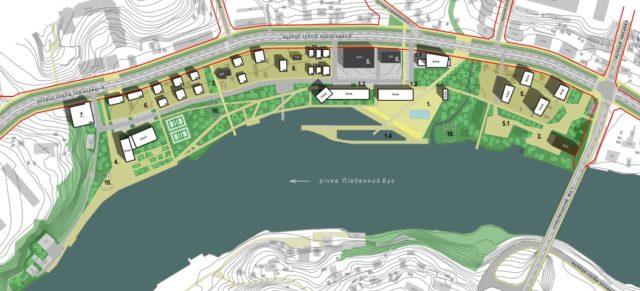 Розширення дороги, яхт-клуб і готель: що планують змінити на Коріатовичів. ГРАФІКА