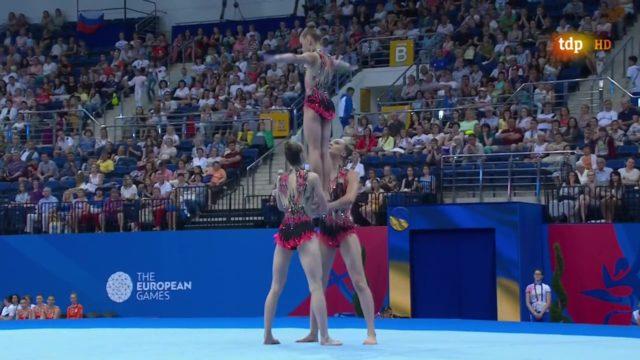 Акробатки з Вінниці увійшли до п'ятірки кращих на Європейських іграх-2019. ВІДЕО