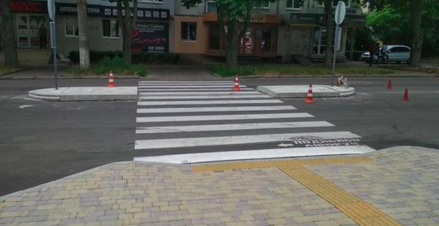 У Вінниці з'явилися нові острівці безпеки на пішохідних переходах. ФОТО