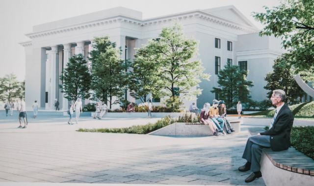 У Вінниці показали, як планують реконструювати площу перед Будинком офіцерів. ГРАФІКА, ВІДЕО
