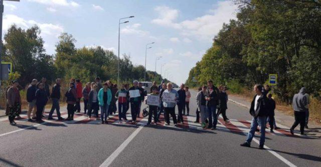 Під Вінницею протестувальники перекривали автомобільний шлях міжнародного значення. ФОТО