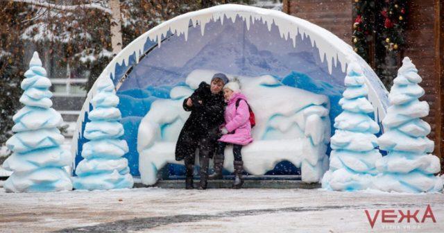 Вінниця передноворічна: як виглядало місто під час останнього в році снігопаду. ФОТОРЕПОРТАЖ