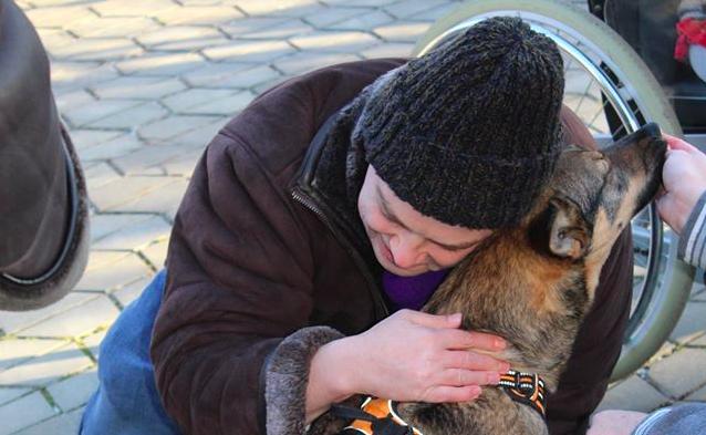 """У вінницькому пансіонаті влаштували заняття """"людино-тваринної"""" взаємодії. ФОТО"""