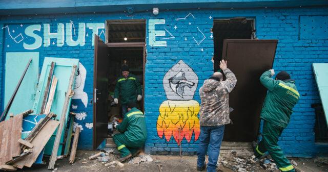 """Врятований """"Шатл"""": як у Вінниці допомагають пограбованій станції сортування сміття. ФОТО"""