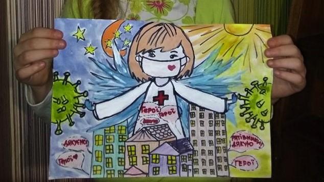 """""""Лікарі – наші герої"""": у Вінниці стартував челендж дитячих малюнків на підтримку лікарів. ФОТО"""