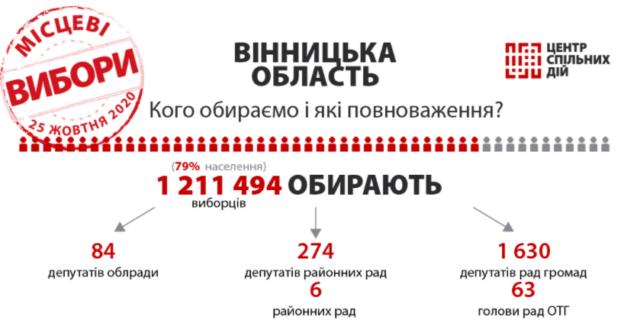 Місцеві вибори: яку владу обираємо 25 жовтня на Вінниччині