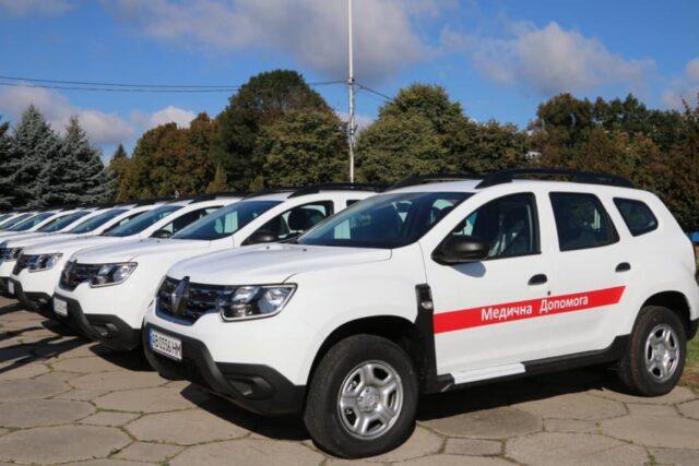 Медичним закладам Вінницької області передали 33 спецавтомобілі