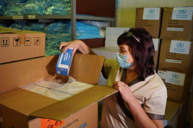 Вінницька лікарня отримала гуманітарну допомогу від Всесвітньої організації охорони здоров'я