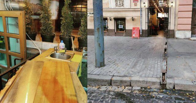 Кав'ярня у центрі Вінниці виливала помиї прямо у зливову каналізацію