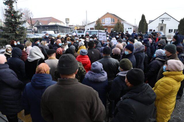 У Стрижавці відбувся мітинг проти підвищення комунальних тарифів. ВІДЕО