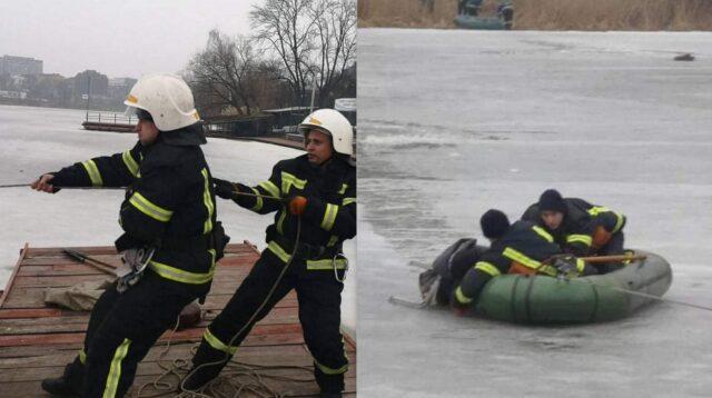 У Вінниці бійці ДСНС врятували 65-річного чоловіка, який провалився під кригу. ФОТО