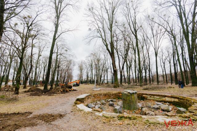 У Вінниці розпочали реконструкцію парку «Хімік» на Замості. ФОТОРЕПОРТАЖ