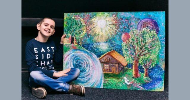 """У Вінниці діти з інвалідністю намалювали 15 картин, зобразивши на них """"власний Всесвіт"""". ФОТО, ВІДЕО"""