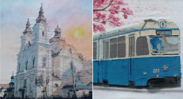Вишиті пам'ятки: у Вінниці студентки створили незвичну книгу про місто. ФОТО