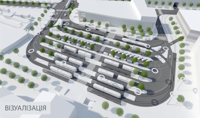 У Вінниці показали проєктне бачення реконструкції площі Привокзальної. ВІЗУАЛІЗАЦІЯ