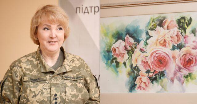 У Вінниці відкрилася виставка картин офіцерки ЗСУ Наталії Жижко
