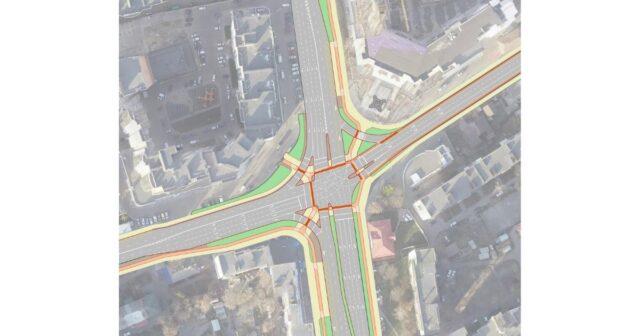 У Вінниці показали варіант реорганізації перехрестя вулиць Київської, Чорновола та Стрілецької. ВІЗУАЛІЗАЦІЯ