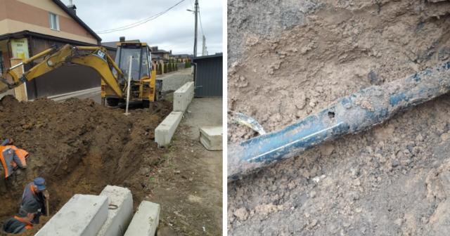 В Агрономічному пошкодили дві ділянки газопроводу під час самовільних земельних робіт