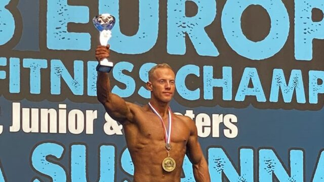 Назар Туранський з Вінниччини став чемпіоном Європи з бодібілдингу