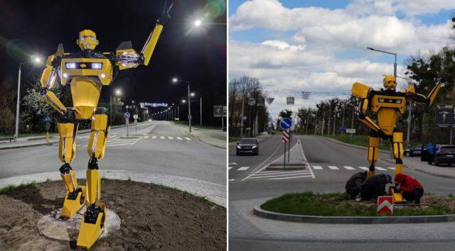 У Вінниці встановили фігуру робота-трансформера. ФОТО