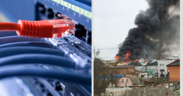 """Через пожежу на вулиці Бевза в кількох районах Вінниці зник інтернет від """"Евересту"""""""