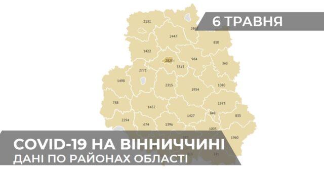 Коронавірус на Вінниччині: статистика поширення по районах станом на 6 травня. ГРАФІКА