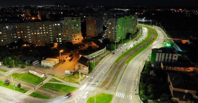 У Вінниці встановили 920 світлодіодних світильників на п'яти вулицях