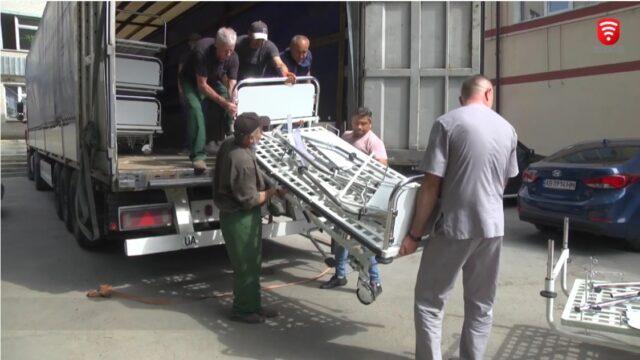 Вінницька лікарня отримала ліжка-трансформери з Німеччини. ВІДЕО