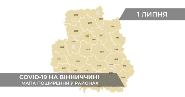 Коронавірус на Вінниччині: дані по районах станом на 1 липня. ГРАФІКА
