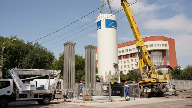 У Вінниці на медмістечку встановили новий кисневий газифікатор. ФОТО