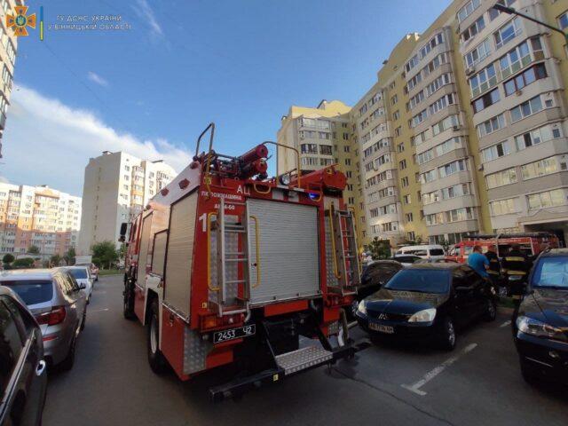 У Вінниці чоловік підпалив квартиру після сварки з дружиною. ФОТО
