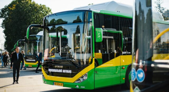 Відзавтра у Вінниці курсуватимуть 10 сучасних автобусів на газу. ФОТО