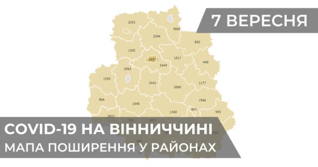 Коронавірус на Вінниччині: статистика поширення по районах станом на 7 вересня. ГРАФІКА