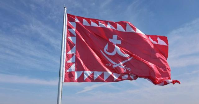 У Вінниці на День міста на Замковій горі підняли прапор міста. ФОТО, ВІДЕО