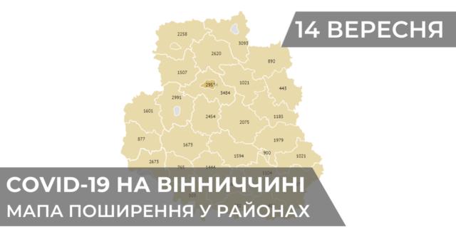Коронавірус на Вінниччині: статистика поширення по районах станом на 14 вересня. ГРАФІКА
