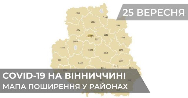 Коронавірус на Вінниччині: оновлені дані по районах станом на 25 вересня. ГРАФІКА