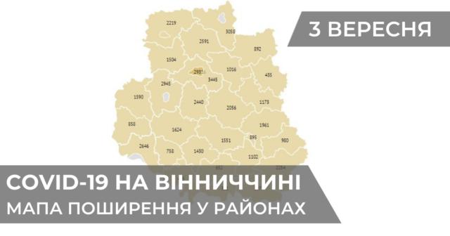 Коронавірус на Вінниччині: статистика поширення по районах станом на 3 вересня. ГРАФІКА