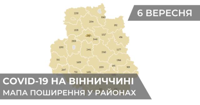 Коронавірус на Вінниччині: статистика поширення по районах станом на 6 вересня. ГРАФІКА